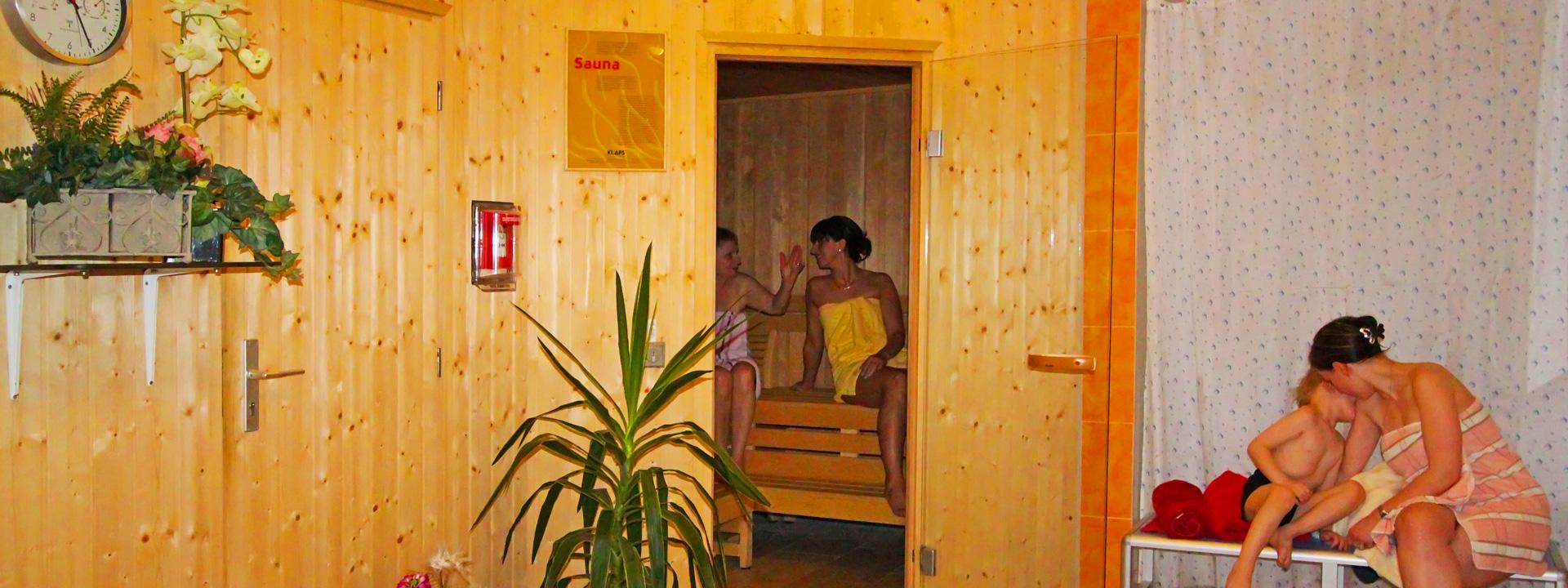 Sauna im Strandhotel Aseleben